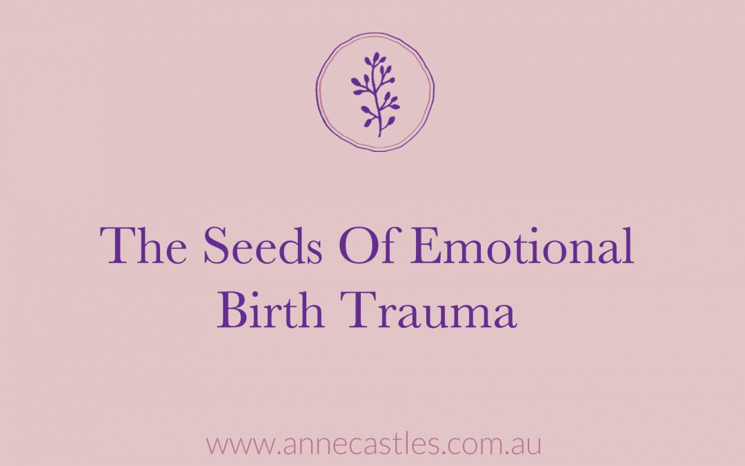 Seeds of Emotional Birth Trauma
